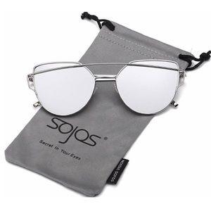 Sojos Cateye mirrored Sunglasses